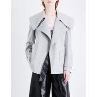 Oversized lace-up woven jacket