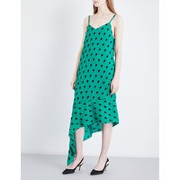 Ziggy flocked sleeveless silk dress