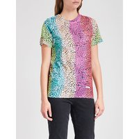 Lovecat Rainbow cotton-jersey T-shirt