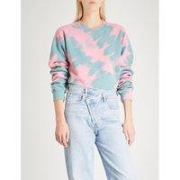 Tie-dye print jersey sweatshirt