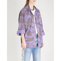 Camo-print cotton-blend jacket