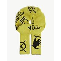 Symbols merino wool scarf