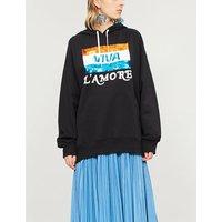 Viva L'Amore sequin-embellished cotton-blend hoody