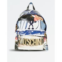 Archive-print patent backpack