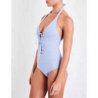 Puetro Rico lace-up-detail swimsuit