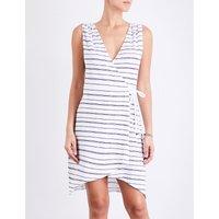 Heidi Klein Nassau jersey wrap dress, Women's, Size: M, Stripe