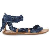 Soludos Leather ankle wrap sandals, Women's, Size: EUR 41 / 8 UK WOMEN, Indigo