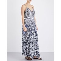 Small Town Hero silk wrap maxi dress