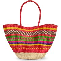 PITUSA Ladies High quality Multi Straw Tote Bag, Size: 1SIZE