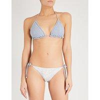 Helm Crochet contrasting bikini