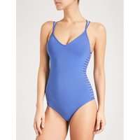 Parallels V-neck swimsuit