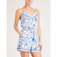 Provence floral woven playsuit