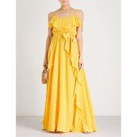 Aida silk-crepe maxi dress