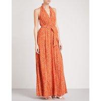 Melba silk-crepe maxi dress