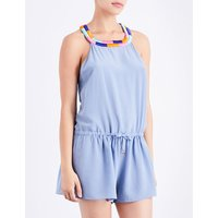 Nimia silk-crepe playsuit