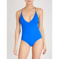 Antonia lace-up stretch swimsuit