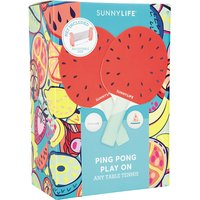 Sunnylife Red Printed Watermelon Ping Pong Set