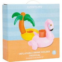 Sunnylife Tropical inflatable drink holders, Women's, Size: 1 Size, Multi-coloured