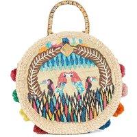 Charlotte Fiesta woven parrot bag