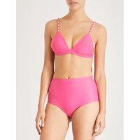Zigzag triangle bikini top