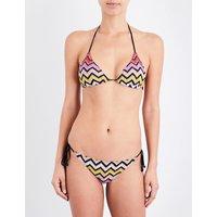 Zigzag crochet-knit bikini