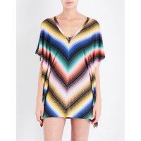 Zigzag crochet-knit kaftan