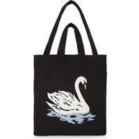 Large canvas swan beach bag