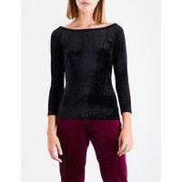 Annalyn off-the-shoulder velvet top