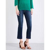Colette frayed-hem flared high-rise jean