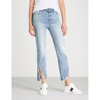 Hoxton Straight Fray straight high-rise jeans