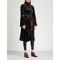 Chrystin floral-pattern velvet jacket