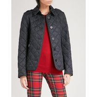 Frankby checked-detail quilted shell jacket