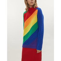 Rainbow wool and cashmere-blend jumper
