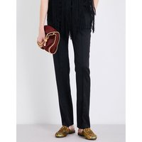 Stella Mccartney Anna straight-leg wool trousers, Women's, Size: 4, Black