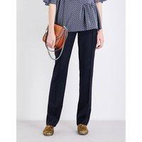 Stella Mccartney Anna straight-leg wool trousers, Women's, Size: 4, Navy