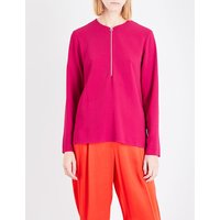 Stella Mccartney Arlesa stretch-crepe top, Women's, Size: 4, Hot pink