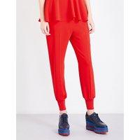 Julia loose-fit crepe trousers