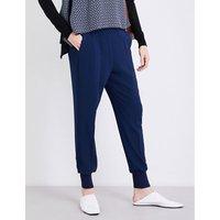 Stella Mccartney Julia loose-fit crepe trousers, Women's, Size: 2, Orion blue
