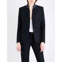 Stella Mccartney Fleur single-breasted wool jacket, Women's, Size: 6, Black