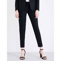 Stella Mccartney Vivian tapered wool-piqué trousers, Women's, Size: 8, Black