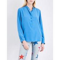 Stella Mccartney Eva silk shirt, Women's, Size: 8, Light blue