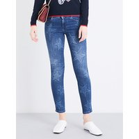 Star skinny mid-rise jeans