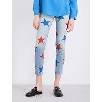 Stella Mccartney Ladies Printed Classic Star-Print Skinny Mid-Rise Jeans, Size: 26