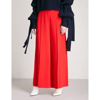 Darcy wide-leg stretch-crepe trousers