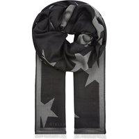 Stella Mccartney Star silk scarf, Women's, Black