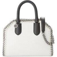 Faux-leather chain cross-body bag