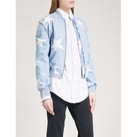 Star denim bomber jacket