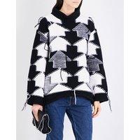 Arrow intarsia wool jumper