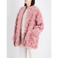 Stella Mccartney Ladies Plush Luxe Eina Oversized Faux-Fur Coat, Size: 4
