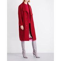 Stella Mccartney Ladies Cranberry Oversized Wool-Blend Coat, Size: 6